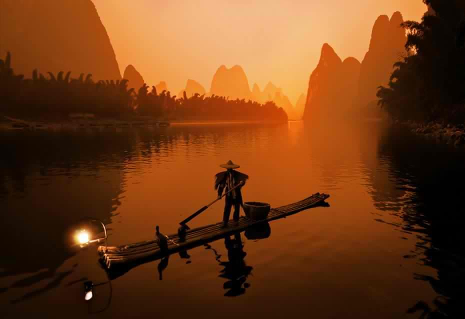 Китай рыбная ловля бакланами